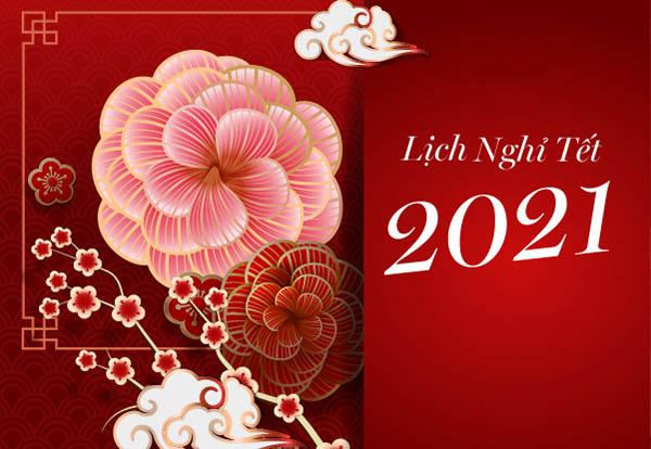 THÔNG BÁO NGHỈ TẾT NGUYÊN ĐÁN TÂN SỬU 2021